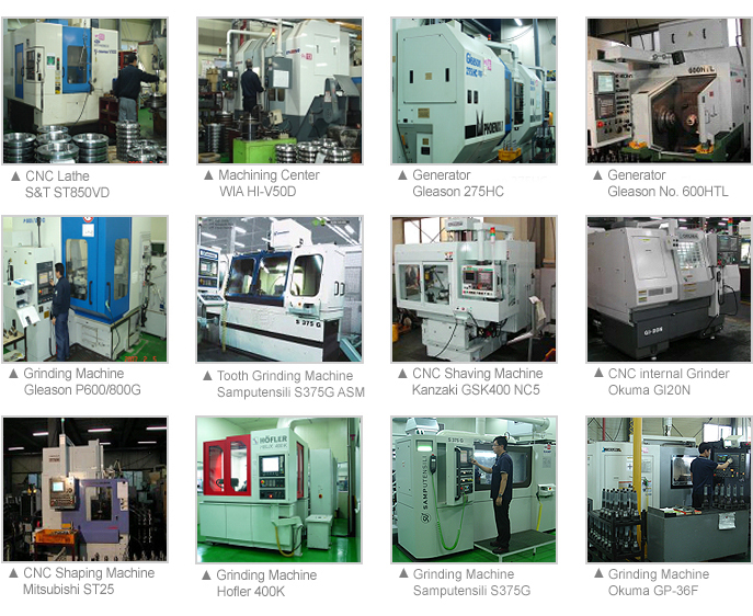Major machining centers